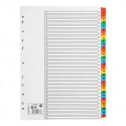 Cheap Stationery Supply of 5 Star Office Index 1-31 Multipunched Mylar-reinforced Multicolour-Tabs 150gsm A4 White Office Statationery
