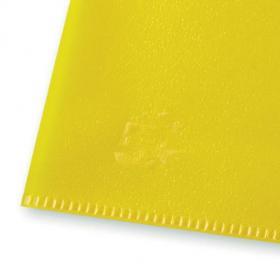 5 Star Office Folder Embossed Cut Flush Polypropylene Copy-safe Translucent 110 Micron A4 Yellow Pack of25