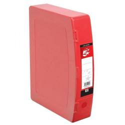 Cheap Stationery Supply of 5 Star Office Box File Capacity 70mm Polypropylene Twin Clip Lock Foolscap Red Office Statationery