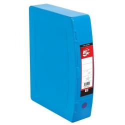 Cheap Stationery Supply of 5 Star Office Box File Capacity 70mm Polypropylene Twin Clip Lock Foolscap Blue Office Statationery