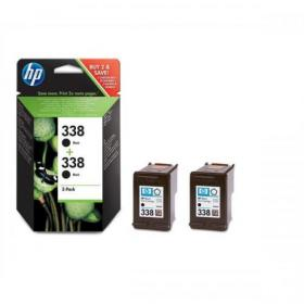 Hewlett Packard HP No.338 Inkjet Cartridge Page Life 480pp 11ml Black Ref CB331EE Pack of 2