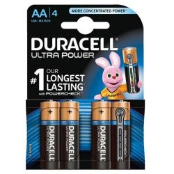 Cheap Stationery Supply of Duracell Ultra Power MX1500 Batteries AA 1.5V 81235491 Pack of 4 Office Statationery