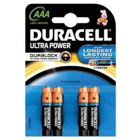 Duracell Ultra Power MX2400 Battery Alkaline 1.5V AAA Ref 81417787 Pack of 4