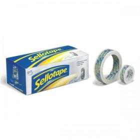 Sellotape Super Clear Premium Quality Easy Tear Tape 18mmx25m Ref 1569088 Pack of 8