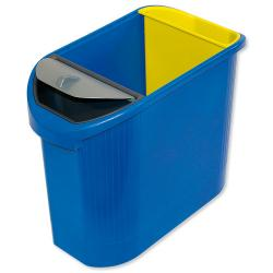 Cheap Stationery Supply of Exacompta Expert Waste Sorting Bin 25.4 Litre Classic Oval (Blue) 451398D Office Statationery