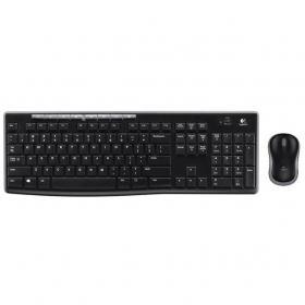 Logitech MK270 Keyboard and Mouse Desktop Combo Wireless Black Ref 920-004523