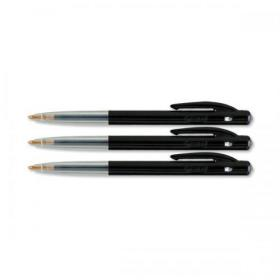 Bic M10 Clic Ball Pen Retractable 1.0mm Tip 0.32mm Line Black Ref 1199190125 Pack of 50