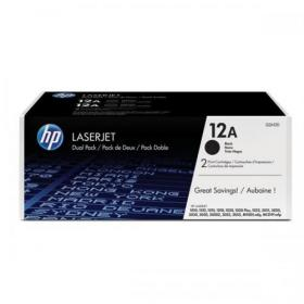 HP 12A Laser Toner Cartridge Page Life 2000pp Black Ref Q2612AD Pack of 2
