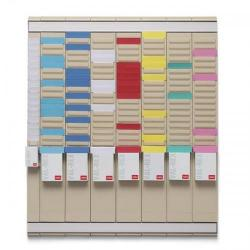 Cheap Stationery Supply of Nobo Midi T-Card Kit Office Planner 8 Columns 24 Slots plus Cards Links Inserts 2911080 Office Statationery