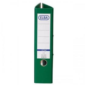 Elba Lever Arch File A4 Coloured Paper on Board Capacity 70mm Green Ref 100202219 Pack of 10