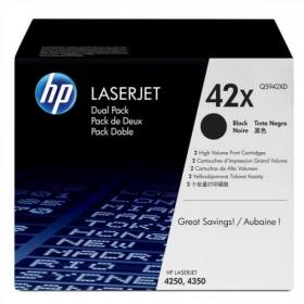 HP 42X Laser Toner Cartridge HY Page Life 20000pp Black Ref Q5942XD Pack of 2