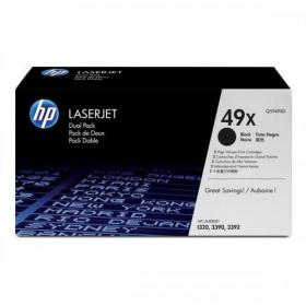 HP 49X Laser Toner Cartridge Page Life 6000pp Black Ref Q5949XD Pack of 2