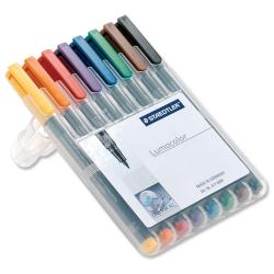 Cheap Stationery Supply of Staedtler Lumocolour 312 (1.0-2.5mm) Non-Permanent Universal Pen (Assorted Colours) 1 x Wallet of 8 312WP8 Office Statationery