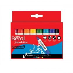 Cheap Stationery Supply of Berol Flipchart Markers Assorted (Pack of 8 Markers) S0377960 Office Statationery