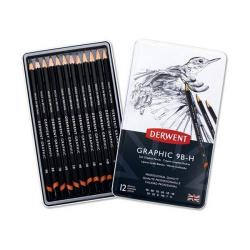 Cheap Stationery Supply of Derwent Graphic Pencils Sketching Graphite 9B-H (Pack of 12 Pencils) 34215 Office Statationery