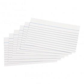 5 Star Office Record Cards Ruled Both Sides 5x3in 127x76mm White Pack of 100