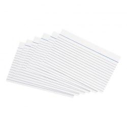 Cheap Stationery Supply of 5 Star Office Record Cards Ruled Both Sides 6x4in 152x102mm White Pack of 100 Office Statationery