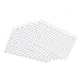 5 Star Office Record Cards Ruled Both Sides 6x4in 152x102mm White Pack of 100