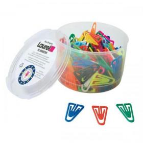 Laurel Paperclips Plastic Non Magnetising 60mm Assorted Colours Ref 25928 Pack of 75