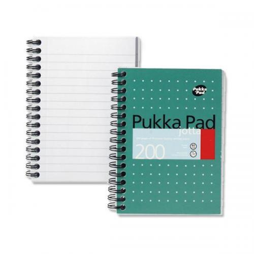 A4//A5 Jotta Memo Lined Notebook 200 Pages 80gsm Wirobound Pukka Pad