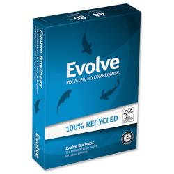 Cheap Stationery Supply of Evolve Premium Business Recycled Paper Ream-Wrapped (500 Sheets) 80gsm (White) 29312 Office Statationery