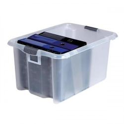Cheap Stationery Supply of Strata Storemaster Archive Box Minus Lid Plastic Large 51 Litre W410xxD590xH295mm Clear HW316 CLR HW316 CLR Office Statationery