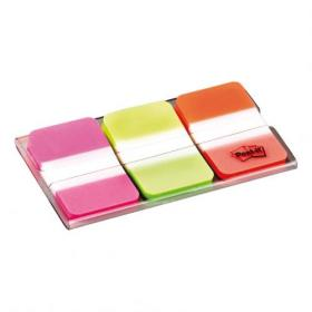 Post-it Index Strong 25mm Assorted Pink Green and Orange Ref 686-PGO Pack of 66