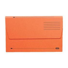 Elba Document Wallet Half Flap 285gsm Capacity 32mm Foolscap Orange Ref 100090241 Pack of 50