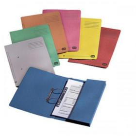 Elba StrongLine Transfer Spring File Recycled 320gsm Foolscap Red Ref 100090278 Pack of 25