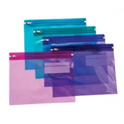 Cheap Stationery Supply of Snopake Zippa-Bag S (A5) Zipped Folder (Electra Assorted Colours) Pack of 25 Folders 14135 Office Statationery