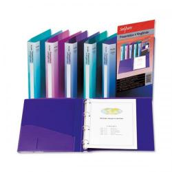 Cheap Stationery Supply of Snopake Presentation Ring Binder Polypropylene 4 O-Ring 25mm Size A4 Assorted 15555 Pack of 10 15555 Office Statationery