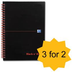 Cheap Stationery Supply of Black n Red Book Wirebound 90gsm Ruled 140pp A5 100080220 Pack of 5 3 For 2 April 2013 Office Statationery