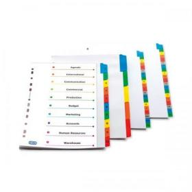 Oxford Index A-Z 20-Part Multipunched Mylar-reinf Multicoloured Tabs 170gsm A4 White Ref 100204600