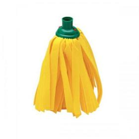 Addis Cloth Mop Head Refill Thick Absorbent Strands and Green Socket Ref 510524