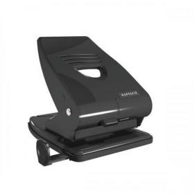 Rapesco 835M Punch 2-Hole Metal Heavy-duty with Lock-down Handle Capacity 40x 80gsm Black Ref PF800AB1