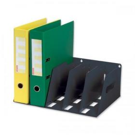 Lever Arch Filing Rack Portable Rigid Metal W410xD292xH160mm Black