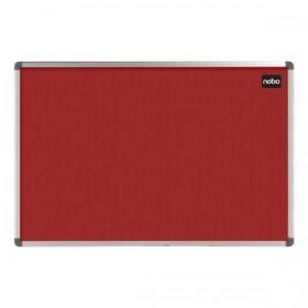 Nobo Classic Noticeboard Felt with Aluminium Frame W1200xH900mm Red Ref 1902260