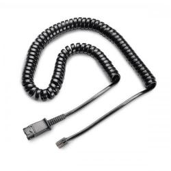 Cheap Stationery Supply of Plantronics U10P Headset Link Cable Curly Cord Black 36469-01/32145-01 Office Statationery