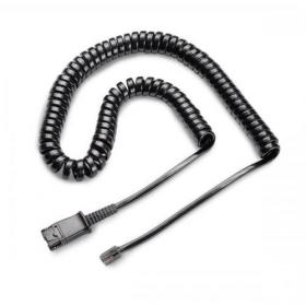 Plantronics U10P Headset Link Cable Curly Cord Black Ref 36469-01/32145-01