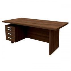 Cheap Stationery Supply of Adroit Virtuoso (180 x 90cm) Rectangular Left-Hand Desk (Walnut) 547698 Office Statationery