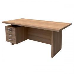 Cheap Stationery Supply of Adroit Virtuoso (180 x 90cm) Rectangular Left-Hand Desk (Cherry) 547705 Office Statationery
