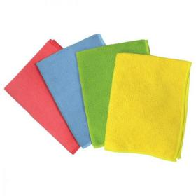5 Star Facilities Microfibre Cleaning Cloth Colour-coded Multi-surface Blue Pack of 6