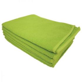 5 Star Facilities Microfibre Cleaning Cloth Colour-coded Multi-surface Green Pack of 6