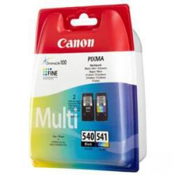 Cheap Stationery Supply of Canon PG-540/CL-541 Inkjet Cartridge Page Life 180pp 8ml Black/Tri-Colour 5225B006 Pack of 2 Office Statationery