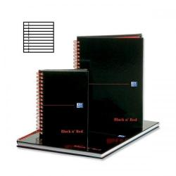 Cheap Stationery Supply of Black n Red (A4) 90g/m2 140 Pages Ruled and Perforated Wirebound Notebook (Pack 5) (2 Packs for the Price of 1 October - December 2013) B79019-XX Office Statationery