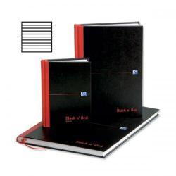 Cheap Stationery Supply of Black n Red (A5) 90g/m2 192 Pages Ruled Casebound Notebook (Pack 5) (2 Packs for the Price of 1 October - December 2013) E66857-XX Office Statationery