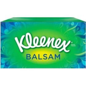 Kleenex Balsam Facial Tissues Box 3 Ply with Protective Balm 64 Sheets White Ref M02275