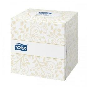 Tork Facial Tissues Cube 2 Ply 100 Sheets White Ref 140278 Pack of 30