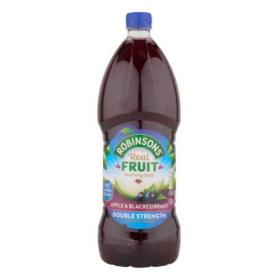 Robinsons Squash Double Concentrate No Added Sugar 1.75 Litres Apple & Blackcurrant Ref 200660 Pack of 2