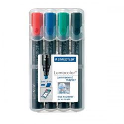 Cheap Stationery Supply of Staedtler Lumocolor Permanent 350 (2-5mm) Permanent Marker Pen (Assorted Colours) 1 x Wallet of 4 350 WP4 Office Statationery